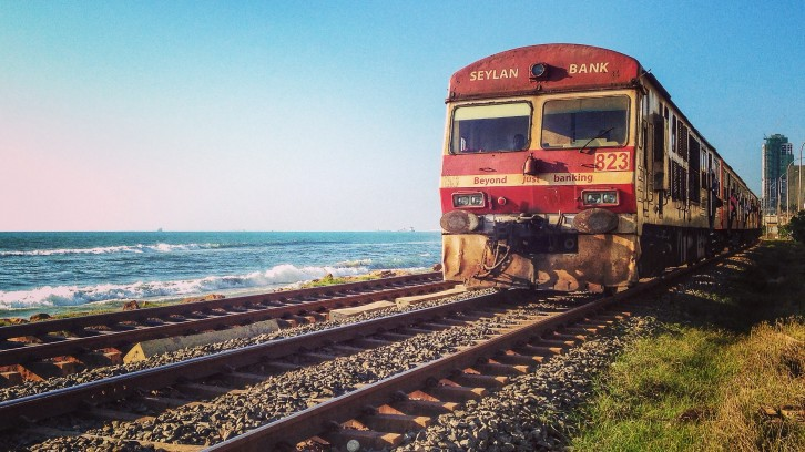 Train from Colombo to Weligama
